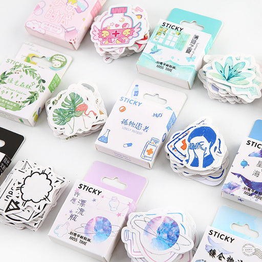 46 PCS,New Style Sticker,Kawaii Sticker,Beautiful Lab&Tag,Sticker Pack,Notebook Sticker,Diary Sticker,Stationery