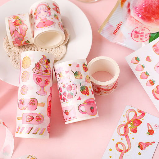 Strawberry fruit paper tape