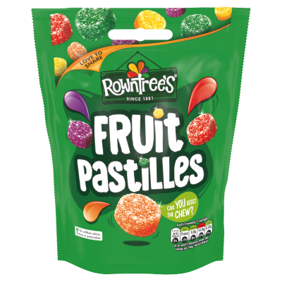Rowntree's Fruit Pastilles Pouch 10x150g [Regular Stock], Rowntrees, Bagged Candy- HP Imports