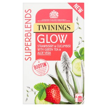Twinings Superblends Glow Tea Bags 4x20's [Regular Stock], Twinings, Drinks- HP Imports