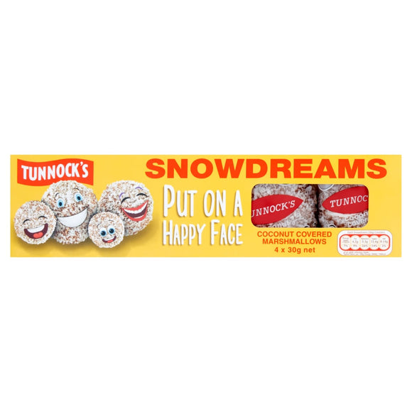 Tunnock's Marshmallow Snowballs 4Pk x36 [Regular Stock], Tunnocks, Biscuits/Crackers- HP Imports
