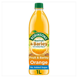 Robinsons Orange Fruit & Barley Squash No Added Sugar (PM) 12x1L [Pre-Order Stock] {BEST BEFORE DATE: 2020-11-30}, Robinsons, Drinks- HP Imports