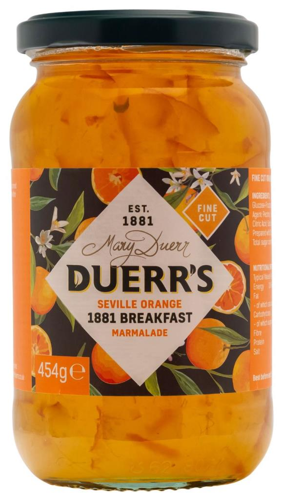 Duerr's 1881 Breakfast Marmalade 6x454g [Regular Stock]
