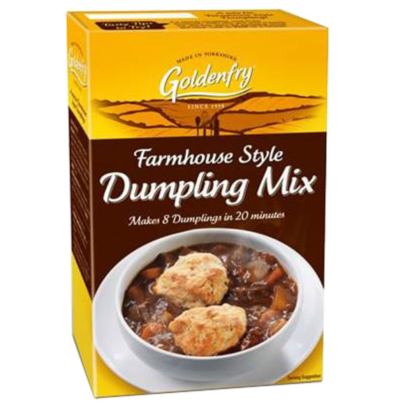 Golden Fry Farmhouse Dumpling Mix 12*142g [Regular Stock], Cooking Aids/Sauces/Mixes, GoldenFry, [variant_title],HP Imports British Wholesale Distribution