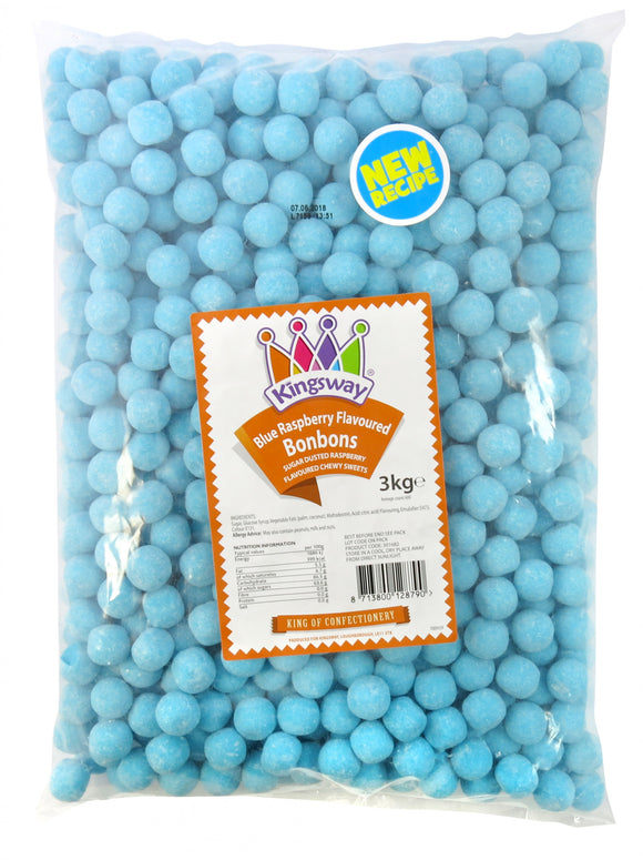 Kingsway Blue Raspberry Bonbons 3kg [Regular Stock], Kingsway, Bulk Candy- HP Imports