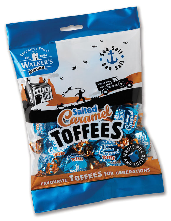 Walkers Salted Caramel Toffee Bags 12*150g [Regular Stock], Bagged Candy, Walkers, [variant_title],HP Imports British Wholesale Distribution
