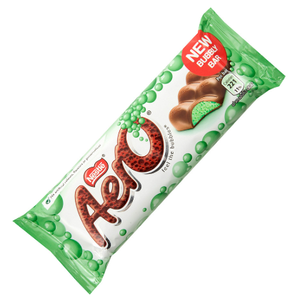 Nestle Aero Bubbly Peppermint Bar 24x36g [Regular Stock], Nestle, Chocolate Bar/Bag- HP Imports