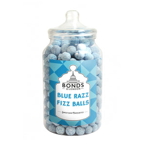 Bonds Fizz Balls Blue Rasp Jar 2.5kg [Regular Stock]