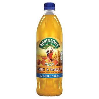 Robinsons Peach Fruit & Barley No Added Sugar (PM) 12x1L [Regular Stock], Robinsons, Drinks- HP Imports