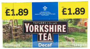 Taylors Yorkshire Tea Decaf (PM) 5x40's [Regular Stock], Taylors, Drinks- HP Imports