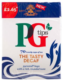 PG Tips Decaf (PM) 6x70s [Regular Stock], PG Tips, Drinks- HP Imports
