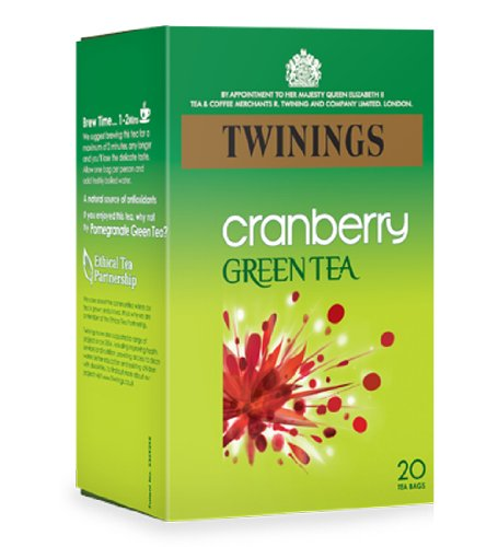 Twinings Green Tea with Cranberry Teabags 4x20's [Regular Stock], Twinings, Drinks- HP Imports