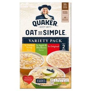 Quaker Oats Oat So Simple Variety 9PK 6x297g [Regular Stock], Quaker, Cereal/Breakfast- HP Imports
