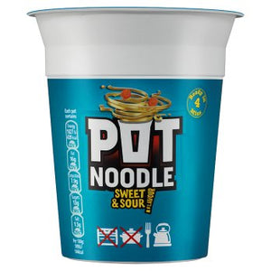Pot Noodle Sweet & Sour 12x90g [Regular Stock], Pot Noodle, Soups- HP Imports