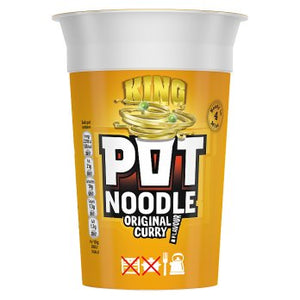 Pot Noodle King Original Curry 12x114g [Regular Stock], Pot Noodle, Soups- HP Imports