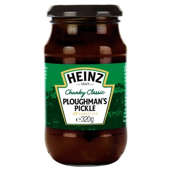 Heinz Crunchy & Classic Ploughman's Pickle 8x320gm [Regular Stock], Heinz, Table Sauces- HP Imports