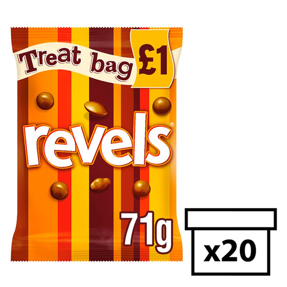 Mars Revels Treat Bag (PM) 20x71g [Regular Stock], Mars, Chocolate Bar/Bag- HP Imports