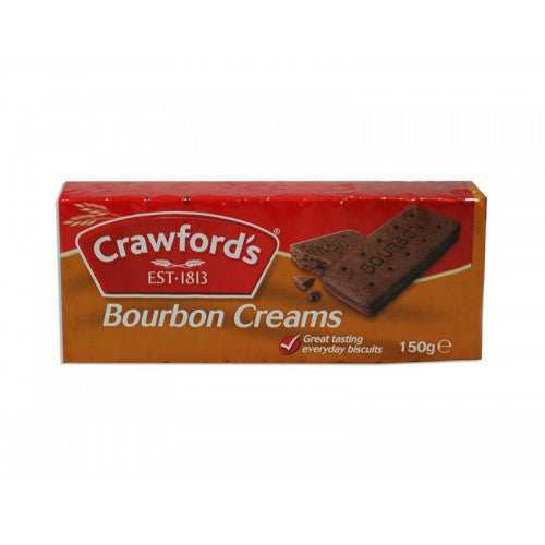 Crawford Bourbon Creams 12*150g [Regular Stock], Biscuits/Crackers, Crawford, [variant_title],HP Imports British Wholesale Distribution