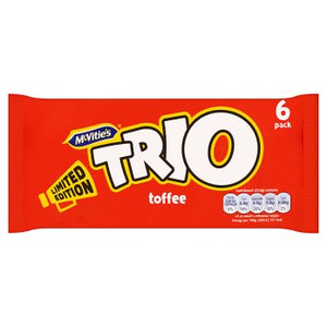 McVitie's Trio Toffee 30x6 Bars (138g) [Regular Stock], McVitie's, Biscuits/Crackers- HP Imports