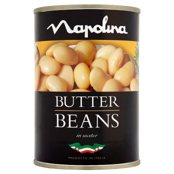 Napolina Butter Beans 12x400g [Regular Stock], Napolina, Vegetables- HP Imports