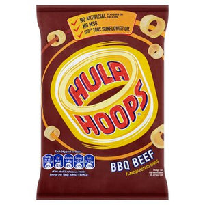 Hula Hoops BBQ Beef 32x34g [Regular Stock], Hula Hoops, Crisps/Snacks- HP Imports