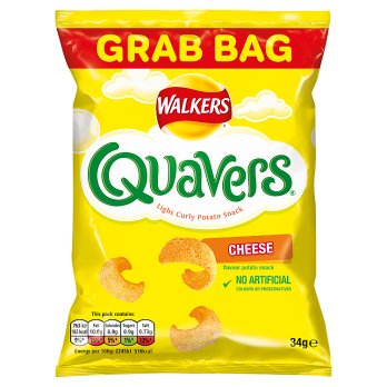 Walkers Quavers Cheese Snacks 30x34g [Pre-Order Stock] {BEST BEFORE DATE: 2020-03-14}, Walkers, Crisps/Snacks- HP Imports
