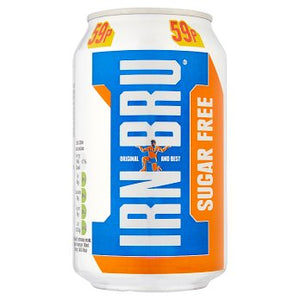 Barr's IRN-BRU Sugar Free (PM) 24x330ml [Pre-Order Stock] {BEST BEFORE DATE: 2021-01-31}, Barr's, Pop Cans- HP Imports