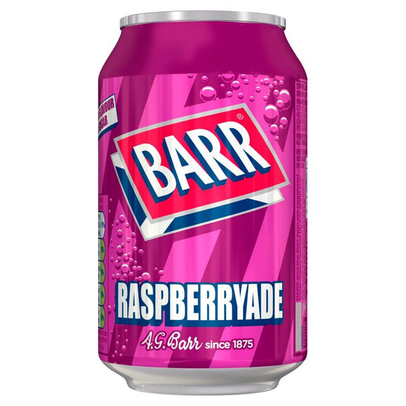 Barr Raspberryade (PM) 24*330ml [Regular Stock], Pop Cans, Barr's, [variant_title],HP Imports British Wholesale Distribution