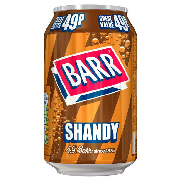 Barr's Shandy (PM) 24x330ml [Regular Stock], Barr, Pop Cans- HP Imports