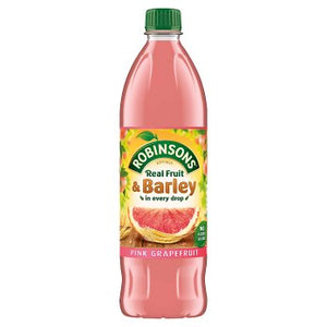 Robinsons Fruit & Barley Pink Grapefruit Squash No Added Sugar 12x1L [Regular Stock], Robinsons, Drinks- HP Imports
