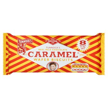 Tunnock's Real Milk Chocolate Caramel Wafer Biscuits 8PK 20x30g [Regular Stock], Tunnocks, Biscuits/Crackers- HP Imports