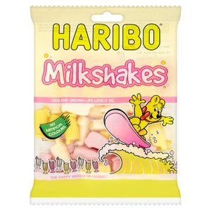 Haribo Milkshakes Clipstrip 24x150g [Regular Stock], Haribo, Bagged Candy- HP Imports