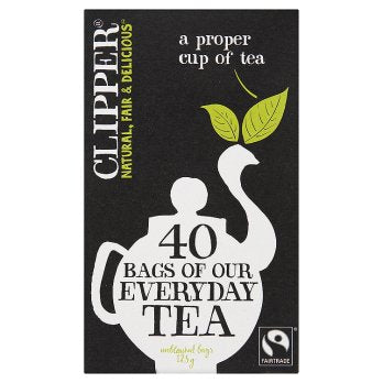 Clipper Fairtrade Everyday Tea 6PK 40x125g [Regular Stock], Clipper, Drinks- HP Imports