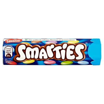 Nestle Smarties Hexatube 48x38g [Regular Stock], Nestle, Chocolate Bar/Bag- HP Imports