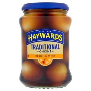 Hayward's Medium & Tangy Traditional Onions 6x400g [Regular Stock], Hayward's, Vegetables- HP Imports