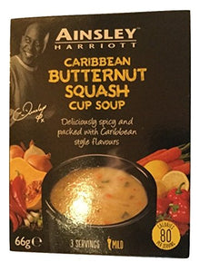 Ainsley Harriott Caribbean Butternut Squash Cup Soup (PM) 12x66g [Regular Stock], Ainsley Harriot, Soups- HP Imports