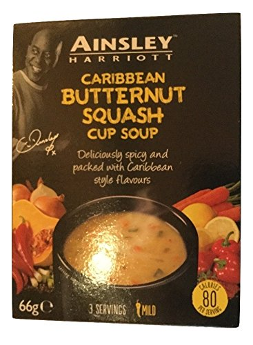 Ainsley Harriott Caribbean Butternut Squash Cup Soup (PM) 12x66g [Pre-Order Stock] {BEST BEFORE DATE: 2021-11-30}, Ainsley Harriot, Soups- HP Imports