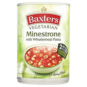 Baxters Vegetarian Minestrone with Wholewheat Pasta 12x400g [Regular Stock], Baxters, Soups- HP Imports