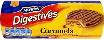 McVitie's Digestives Classic Caramel 12x267g [Regular Stock], Mcvitie's, Biscuits/Crackers- HP Imports