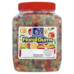 Squirrel Floral Gums Jar 2.25kg [Regular Stock], Squirrel, Bulk Candy- HP Imports