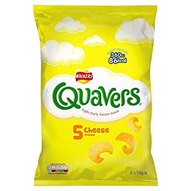 Walkers Quavers Cheese Snacks 5PK x28g [Regular Stock], Walkers, Crisps/Snacks- HP Imports