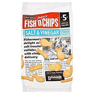 Burton's Fish N Chips Salt & Vinegar 5PK 18x25g [Regular Stock], Burton's, Crisps/Snacks- HP Imports