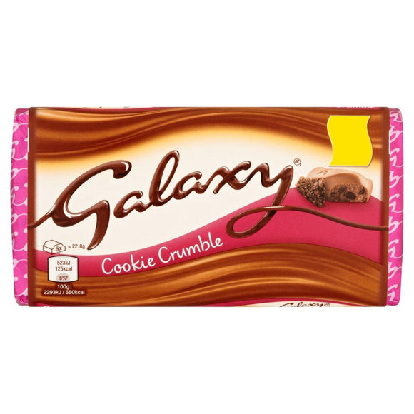 Mars Galaxy Cookie Crumble Block (PM) 24x114g [Regular Stock], Mars, Chocolate Bar/Bag- HP Imports