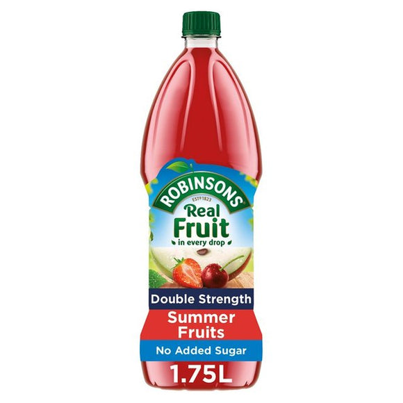 Robinsons Double Strength Summer Fruits No Added Sugar 6*1.75L [Regular Stock], Drinks, Robinsons, [variant_title],HP Imports British Wholesale Distribution