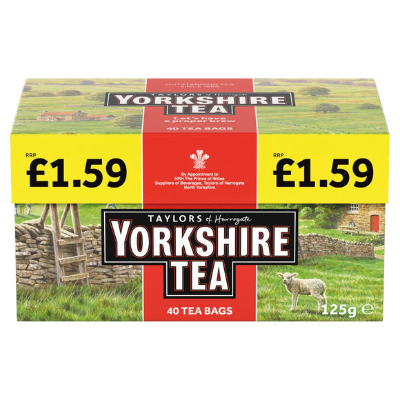Taylors Yorkshire Tea Red 5x40's (PM) [Regular Stock], Taylors, Drinks- HP Imports