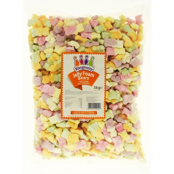 Kingsway Jelly Foam Bear 3kg [Regular Stock], Kingsway, Bulk Candy- HP Imports