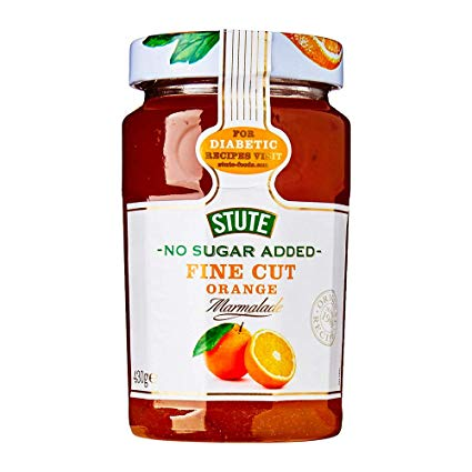 Stute No Sugar Added Fine Cut Orange Marmalade (PM) 6x430g [Regular Stock], Stute, Jams/Marmalade/Spread- HP Imports