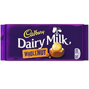 Cadbury Dairy Milk Wholenut 48x45g [Regular Stock], Cadbury, Chocolate Bar/Bag- HP Imports