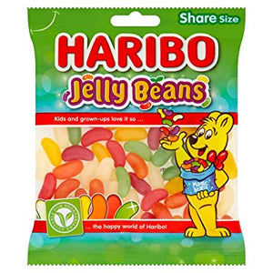 *Haribo Jelly Beans 12*140g [Regular Stock], Bagged Candy, Haribo, [variant_title],HP Imports British Wholesale Distribution