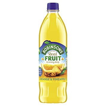 Robinsons Orange & Pineapple Squash NAS 12*1L [Regular Stock], Drinks, Robinsons, [variant_title],HP Imports British Wholesale Distribution